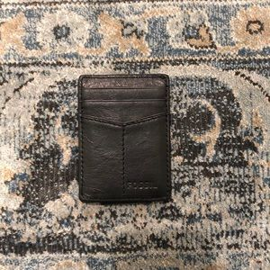 Fossil Black Leather Cardholder Wallet